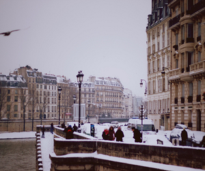 city, snow, and indie image