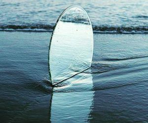 beach, mirror, and reflection image