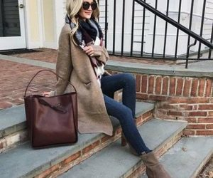 backpack, fall, and cardigan image