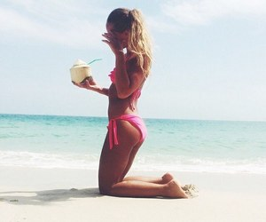 beach, beauty, and gym image
