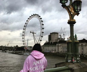 aesthetic, london, and london eye image