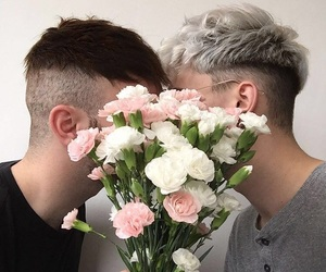flowers, love, and gay image