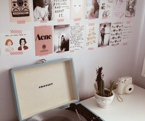 room, vintage, and pink image