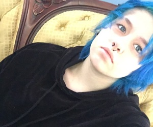 dyed hair, emo, and hair image