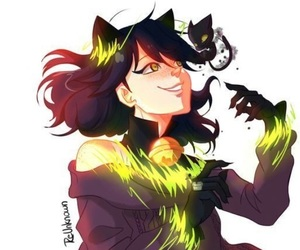 Chat Noir, marinette, and plagg image