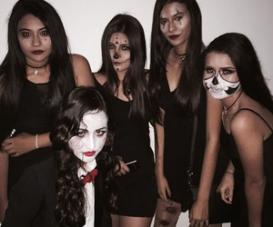 costume, makeup, and maquillaje image