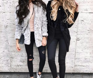 blonde, friendship, and girlfriends image