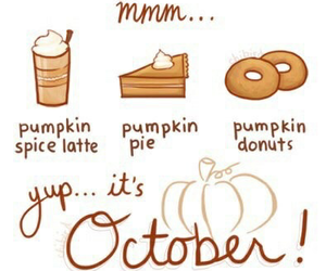 october, pumpkin, and autumn image