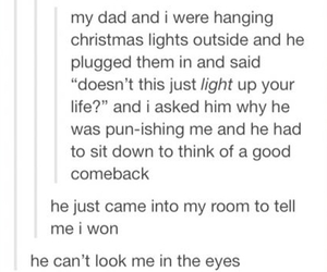funny, dad jokes, and tumblr text post image
