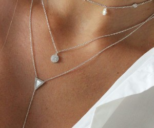 necklace, jewelry, and silver image