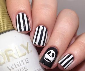 designs, nails, and halloween nail art image