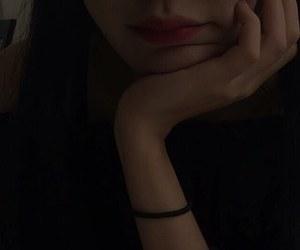 dark, lips, and ulzzang image