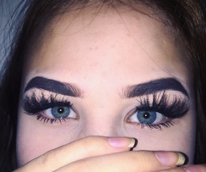 eyes, girl, and lashes image