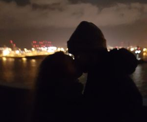 city, couple, and Elbe image
