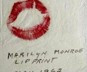 Marilyn Monroe, kiss, and lip print image