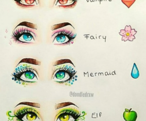 eyes, mermaid, and elf image
