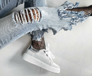 denim, jeans, and shoes image