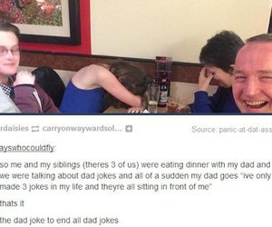 funny, tumblr post, and dad jokes image
