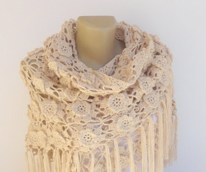 etsy, winter accessories, and crochet shawl image