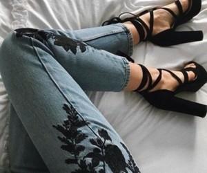black, jean, and tumblr image
