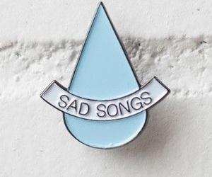 blue, pin, and sad image