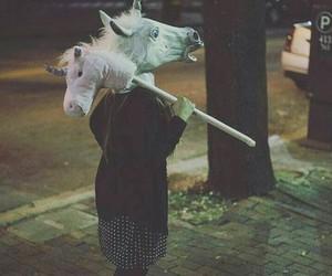 tumblr, unicorn, and horse head image