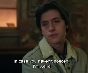 weird, riverdale, and cole sprouse image