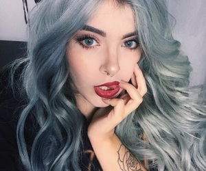 alternative, tattoo, and wavy hair image