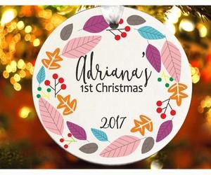 baby first christmas, christmas gift, and tree ornament image