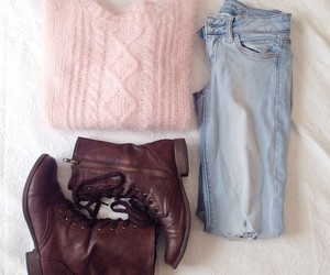 autumn, fashion, and baby pink image