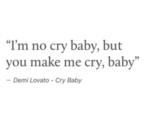crybaby, crying, and demi lovato image