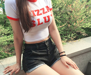 pizza, red, and pizza slut image