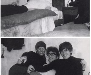 george harrison, john lennon, and ringo starr image