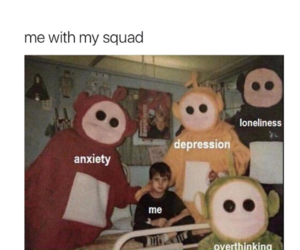 depression, anxiety, and sad image