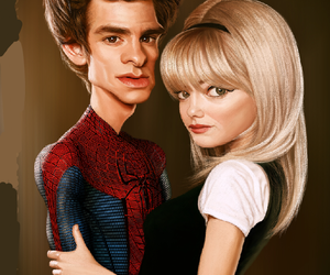 art, spider man, and superheroes image