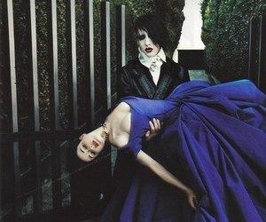 Marilyn Manson, Dita von Teese, and dress image