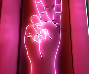 neon, pink, and lights image
