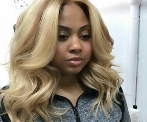 blonde, hair, and laid image