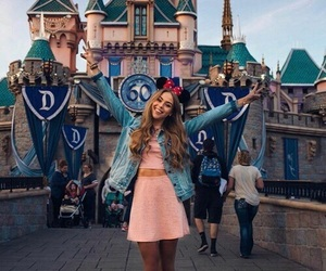 fashion, girl, and disneyland image
