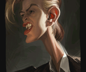 art, artwork, and david bowie image
