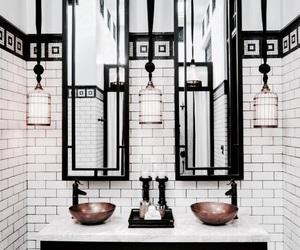 interior, bathroom, and design image