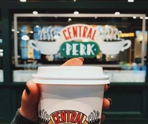 coffee, friends, and central perk image