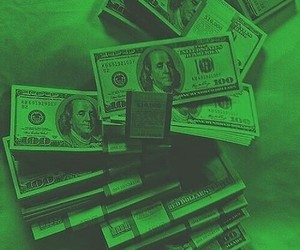 green, money, and tickets image