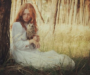 girl woman pretty, perfect beautiful beauty, and nature owl animal image