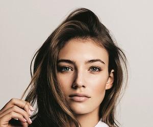 brunette, fashion, and model image