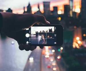 lights, road, and city image