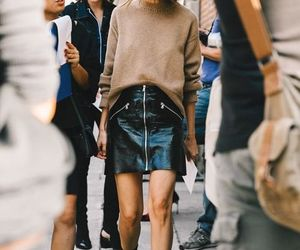 fashion, skirt, and chic image
