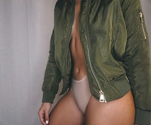 body, green, and woman image