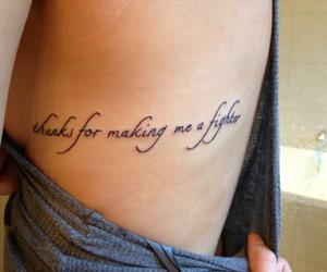 tattoo, christina aguilera, and fighter image