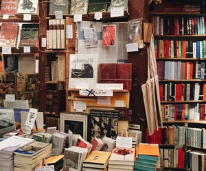 book, bookstore, and reading image